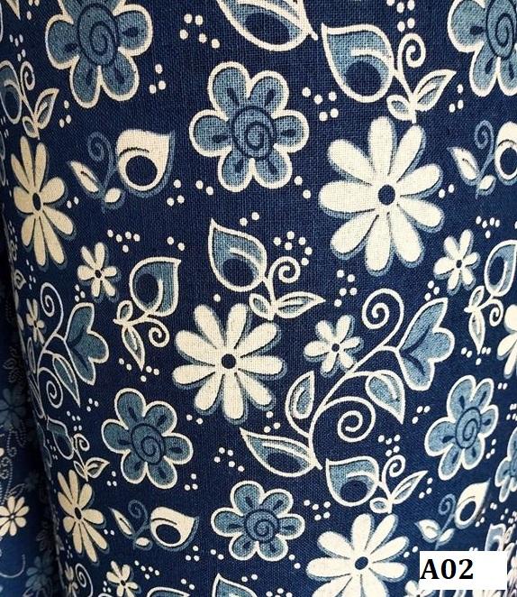 Indigo dyed cotton ผ้าฝ้ายย้อมคราม A02