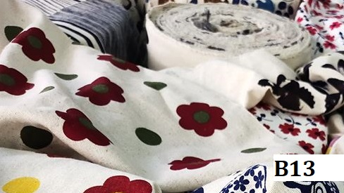 Japanese style printed cotton ผ้าฝ้ายลายญี่ปุ่น B13
