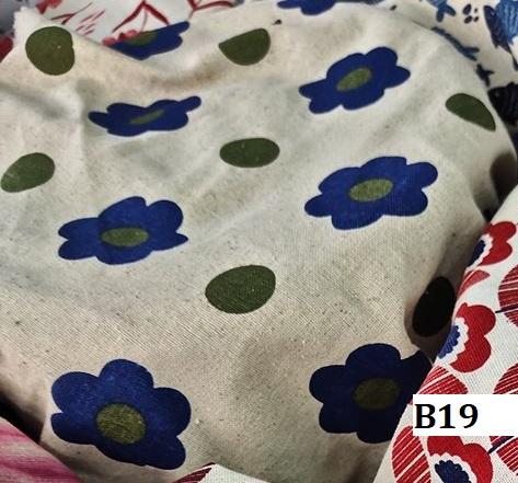 Japanese style printed cotton ผ้าฝ้ายลายญี่ปุ่น B19