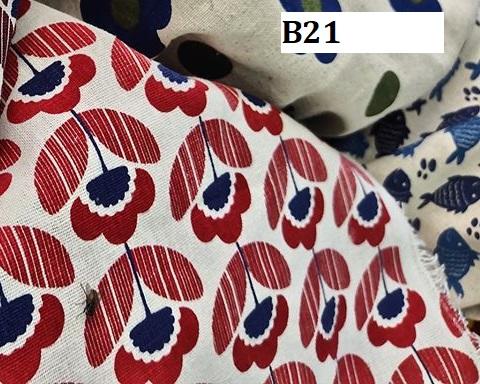 Japanese style printed cotton ผ้าฝ้ายลายญี่ปุ่น B21