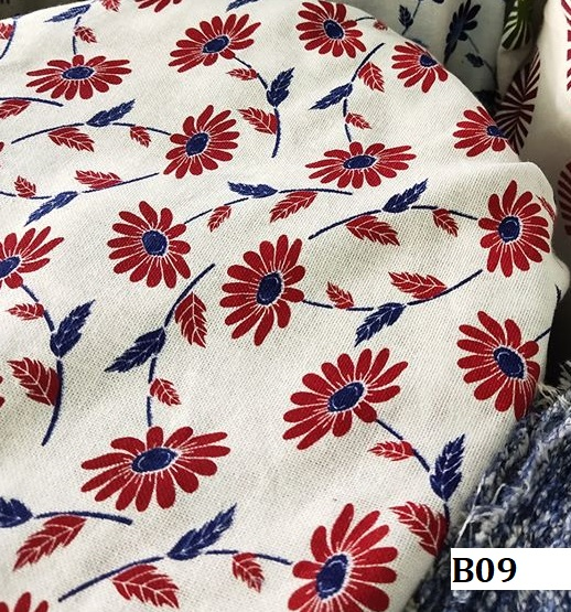Japanese style printed cotton ผ้าฝ้ายลายญี่ปุ่น B09