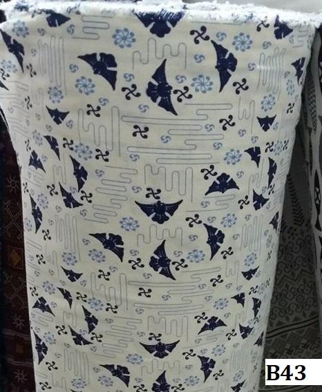 Japanese style printed cotton ผ้าฝ้ายลายญี่ปุ่น B43