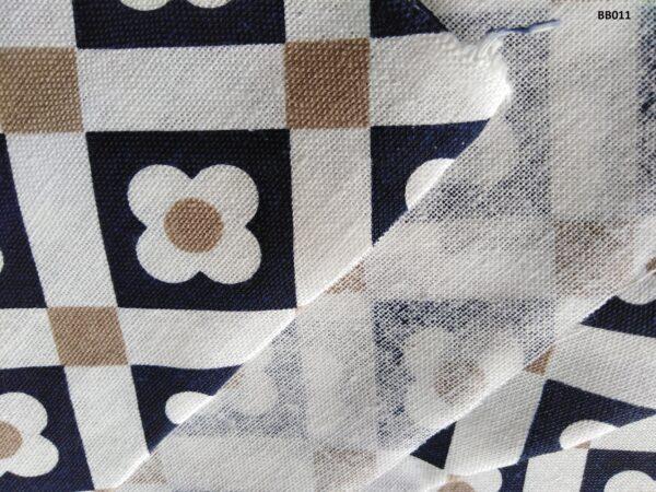 Soft printed cotton ผ้าฝ้ายฟอกนุ่มพิมพ์ลาย BB028