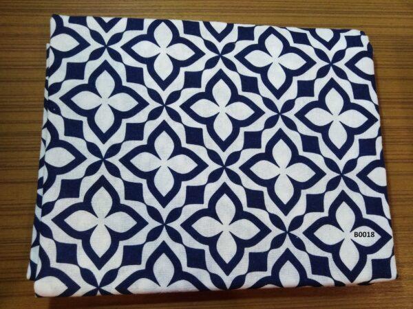 Soft printed cotton ผ้าฝ้ายฟอกนุ่มพิมพ์ลาย BB0118