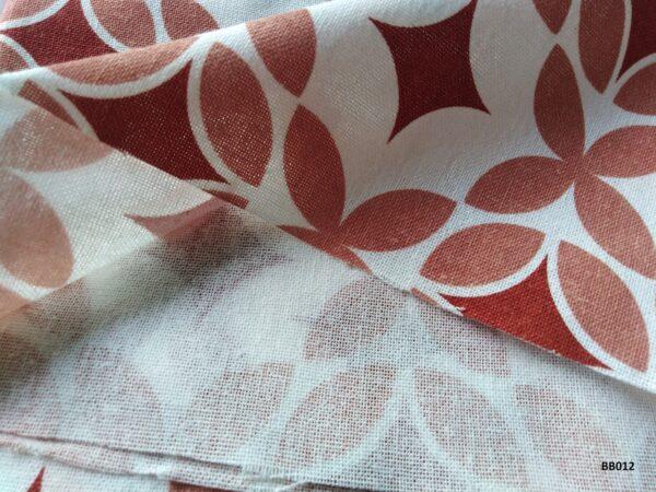 Soft printed cotton ผ้าฝ้ายฟอกนุ่มพิมพ์ลาย BB012