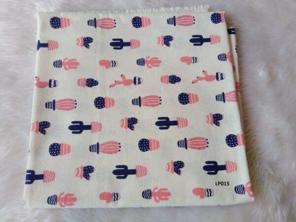 Soft printed cotton ผ้าฝ้ายฟอกนุ่มพิมพ์ลาย BB015