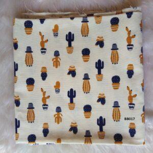 Soft printed cotton ผ้าฝ้ายฟอกนุ่มพิมพ์ลาย BB017