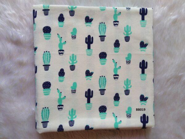 Soft printed cotton ผ้าฝ้ายฟอกนุ่มพิมพ์ลาย BB019