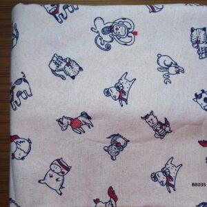 Soft printed cotton ผ้าฝ้ายฟอกนุ่มพิมพ์ลาย BB035