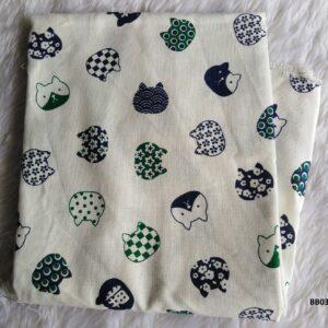 Soft printed cotton ผ้าฝ้ายฟอกนุ่มพิมพ์ลาย BB037