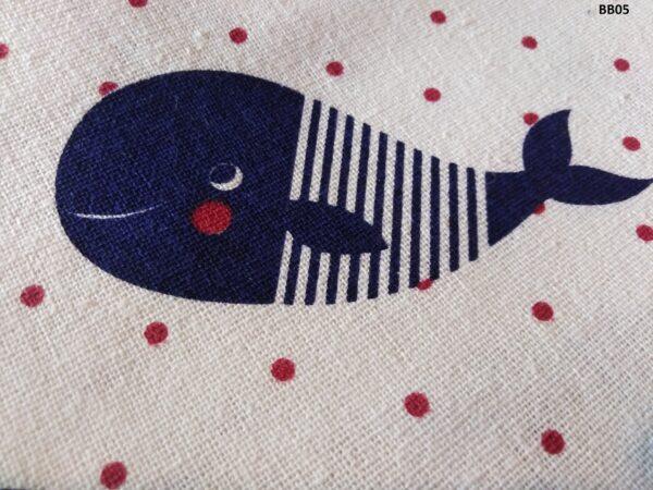 Soft printed cotton ผ้าฝ้ายฟอกนุ่มพิมพ์ลาย BB05