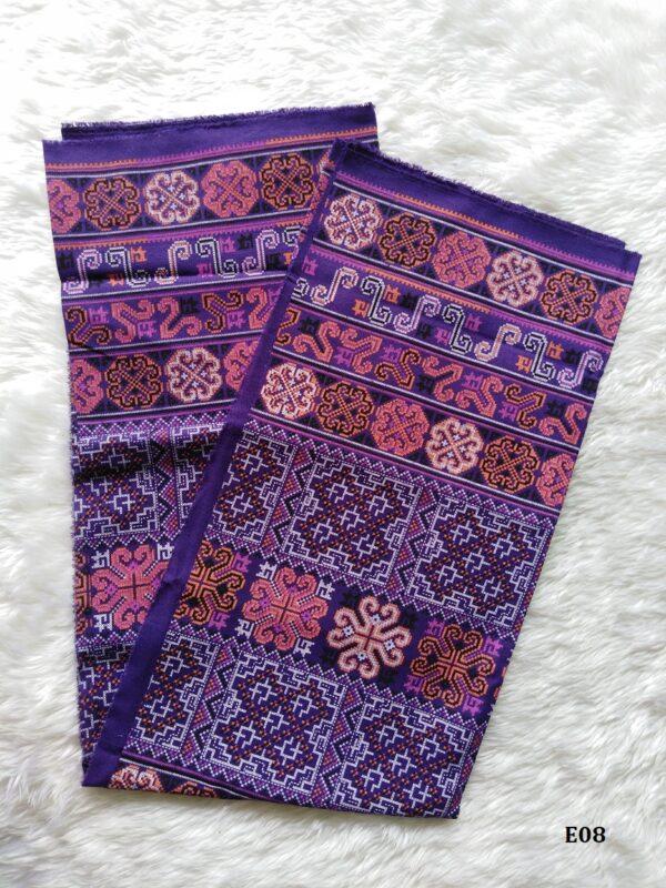 Tribal printed cotton ฝ้ายพิมพ์ลายชนเผ่า E08