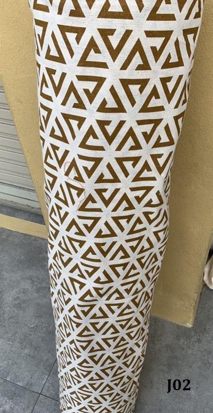 Printed pattern cotton ผ้าฝ้ายพิมพ์ลาย J02