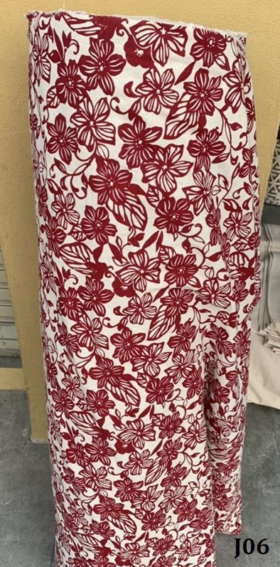 Printed pattern cotton ผ้าฝ้ายพิมพ์ลาย J06