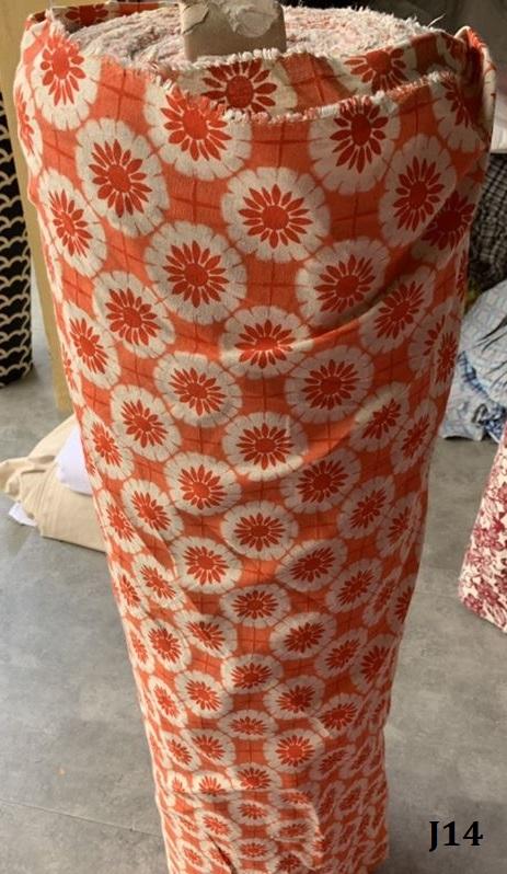 Printed pattern cotton ผ้าฝ้ายพิมพ์ลาย J14