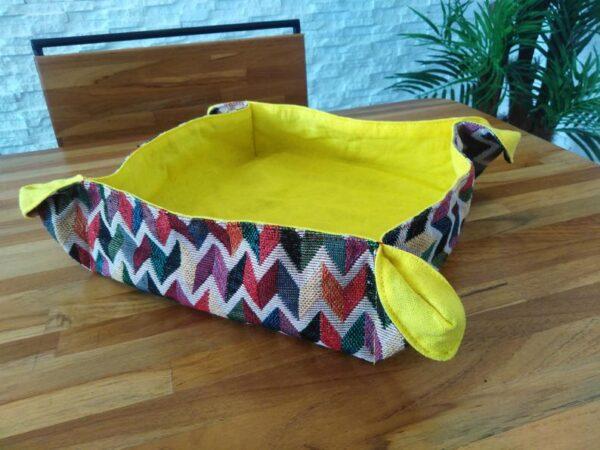 Fabric bread basket - yellow